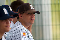 23 May 2009: Giovanni Ouin of Rouen is seen in the dugout during the 2009 challenge de France, a tournament with the best French baseball teams - all eight elite league clubs - to determine a spot in the European Cup next year, at Montpellier, France. Rouen wins 6-2 over La Guerche.