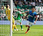 13.05.2018 Hibs v Rangers: James Tavernier celebrates his goal