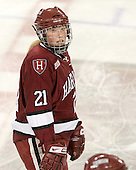 Whitney Kennedy (Harvard - 21) - The Boston College Eagles defeated the visiting Harvard University Crimson 6-2 on Sunday, December 5, 2010, at Conte Forum in Chestnut Hill, Massachusetts.