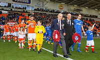 Veterans of the armed forces lead the teams out onto the field<br /> <br /> Photographer Alex Dodd/CameraSport<br /> <br /> The EFL Sky Bet League One - Blackpool v Portsmouth - Saturday 11th November 2017 - Bloomfield Road - Blackpool<br /> <br /> World Copyright &copy; 2017 CameraSport. All rights reserved. 43 Linden Ave. Countesthorpe. Leicester. England. LE8 5PG - Tel: +44 (0) 116 277 4147 - admin@camerasport.com - www.camerasport.com