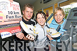 ON THE RUN:  Getting ready for the Puck Warriors 10Km Jingle Fun Run on November 29 in Killorglin are organisers Danny Fitzgerald, Tina Griffin and Aine Fitzgerald.   Copyright Kerry's Eye 2008