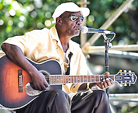 "Jimmy ""Duck"" Holmes playing at the 2011 Blues and BBQ Festival in New Orleans, LA."