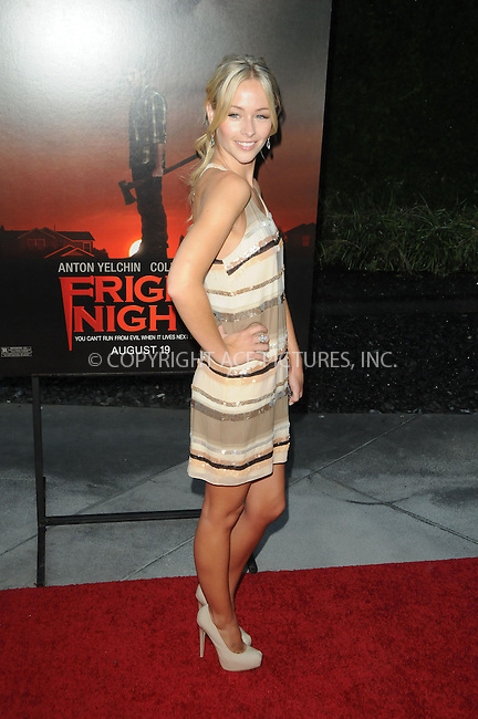 WWW.ACEPIXS.COM . . . . . .August 17, 2011......Los Angeles, CA ....August 17, 2011....Emily Montague attends the Fright Night  Screening at the Archlight Theater in Los Angeles, CA .....Please byline: PETER WEST - ACEPIXS.COM.. . . . . . ..Ace Pictures, Inc: ..tel: (212) 243 8787 or (646) 769 0430..e-mail: info@acepixs.com..web: http://www.acepixs.com ...