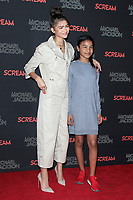 LOS ANGELES - OCT 24: Zendaya,  Kaylee Stoermer Coleman at The Estate of Michael Jackson and Sony Music present Michael Jackson Scream Halloween Takeover at TCL Chinese Theatre IMAX on October 24, 2017 in Los Angeles, California