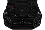 Car Stock 2019 Mercedes Benz G-Class G-550 5 Door SUV Engine  high angle detail view