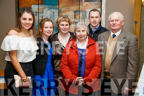 Chloe McCarthy, Edel O'Brien, Laura Furlong, Mike Furlong, Julie Furlong and Michael Furlong, Killarney, pictured at the  Lee Strand/Kerry Garda Youth Achievement Awards 2017 at Ballyroe Heights Hotel, Tralee, on Friday night last.