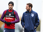England's Jordan Henderson with Gareth Southgate during training at Tottenham Hotspur training centre, London. Picture date November 14th, 2016 Pic David Klein/Sportimage