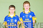 COURT TIME: Dáire Keane and Brian Lonergan of Scoil Bhréanáinn, Ballymacelligott taking part in the Kerry  handball primary schools county final at Tralee Sports Complex on Friday..