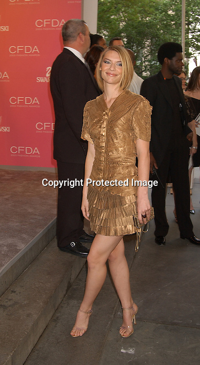 Claire Danes in Zac Posen dress                                                              ..at the CFDA Fashion Awards on June 2,2003 at the ..New York Public Library. Photo by Robin Platzer, Twin Images