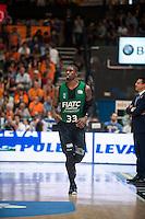 VALENCIA, SPAIN - OCTOBER 18: Paul during ENDESA LEAGUE match between Valencia Basket Club and FIATC Joventut at Fonteta Stadium on October 18, 2015 in Valencia, Spain