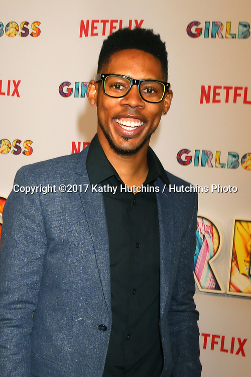 """LOS ANGELES - APR 17:  Alphonso McAuley at the """"Girlboss"""" Premiere Screening at ArcLight Theater on April 17, 2017 in Los Angeles, CA"""