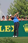 Dubai World Championship Golf. Earth Course,.Jumeirah Golf Estate, Dubai, U.A.E...Padraig Harrington teeing off from the 2nd tee during the third round of the Dubai World Golf championship..Photo: Fran Caffrey/www.golffile.ie...