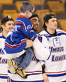 Lucas St. Onge (UML), Joe Gambardella (UML - 5) The University of Massachusetts-Lowell River Hawks defeated the Boston College Eagles 4-3 to win the 2017 Hockey East tournament at TD Garden on Saturday, March 18, 2017, in Boston, Massachusetts.