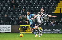 Paris Cowan-Hall of Wycombe Wanderers & Richard Duffy of Notts Co during the Sky Bet League 2 match between Notts County and Wycombe Wanderers at Meadow Lane, Nottingham, England on 10 December 2016. Photo by Andy Rowland.
