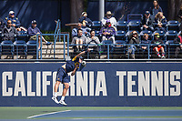 Berkeley, CA - April 8, 2017: The Cal Men's tennis team lost to USC 4-0 at the Hellman Tennis Complex