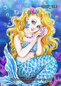Kayomi, CUTE ANIMALS, LUSTIGE TIERE, ANIMALITOS DIVERTIDOS, paintings+++++,USKH311,#ac#, EVERYDAY mermaid,mermaids,fantasy