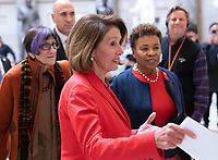 Speaker of the United States House of Representatives Nancy Pelosi (Democrat of California) walks to a meeting, January 16, 2019, on Capitol Hill in Washington, DC. Credit: Chris Kleponis / CNP /MediaPunch