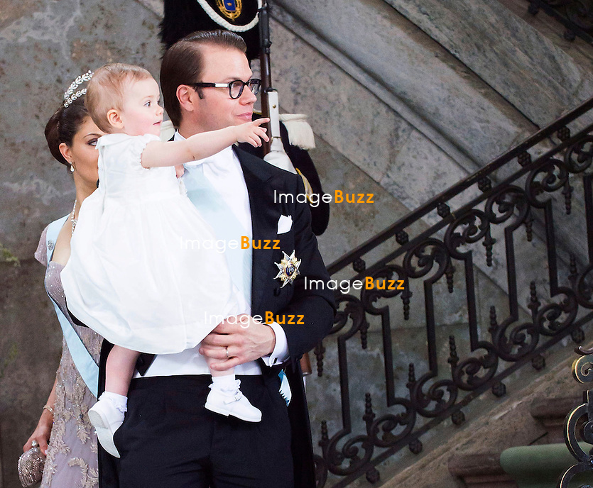 CROWN PRINCESS VICTORIA AND PRINCE DANIEL - PRINCESS MADELEINE AND CHRISTOPHER O'NEILL WEDDING<br /> The Bridal Couple leave the Royal Chapel, Royal Palace, Stockholm, Sweden_08/06/2013
