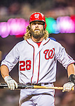 20 May 2014: Washington Nationals outfielder Jayson Werth in action against the Cincinnati Reds at Nationals Park in Washington, DC. The Nationals defeated the Reds 9-4 to take the second game of their 3-game series. Mandatory Credit: Ed Wolfstein Photo *** RAW (NEF) Image File Available ***