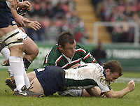 Leicester, ENGLAND.  Paul Hodgson and Julian White,Guinness Premiership Semi-Final. Leicester Tigers vs London Irish, at Welford Road, 05.2006. © Peter Spurrier/Intersport-images.com,  / Mobile +44 [0] 7973 819 551 / email images@intersport-images.com.   [Mandatory Credit, Peter Spurier/ Intersport Images].14.05.2006