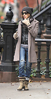 NEW YORK, NY - NOVEMBER 30: Sarah Jessica Parker and James Wilkie Broderick leaving her West Village house to drop her son to school in New York. November 30, 2012. Credit: RW/MediaPunch Inc. /NortePhoto