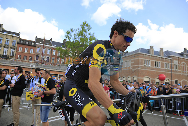 Sylvain Chavanel (FRA) Direct Energie at sign on in Verviers before the start of Stage 3 of the 104th edition of the Tour de France 2017, running 212.5km from Verviers, Belgium to Longwy, France. 3rd July 2017.<br /> Picture: Eoin Clarke | Cyclefile<br /> <br /> <br /> All photos usage must carry mandatory copyright credit (&copy; Cyclefile | Eoin Clarke)