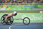RIO DE JANEIRO - 10/9/2016:  Brent Lakatos competes in the Men's 400m - T53 Heat in the Olympic Stadium during the Rio 2016 Paralympic Games. (Photo by Matthew Murnaghan/Canadian Paralympic Committee