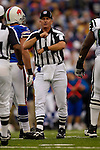 24 September 2006: Umpire Carl Madsen calls an offside penalty during a game between the Buffalo Bills and the New York Jets at Ralph Wilson Stadium in Orchard Park, NY. The Jets defeated the Bills 28-20. Mandatory Photo Credit: Ed Wolfstein Photo