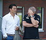 Michael Mols with Ally McCoist as Rangers take on FC Emmen in Holland