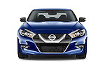 Car photography straight front view of a2016 Nissan Maxima SV 4 Door Sedan Front View
