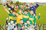 Loughguitane NS Killarney Team Front from left: Tadhg Moriarty, Daniel Devlin and Eric O'Donoghue. Middle Row: Stephen Nagle Moriarty, Alex Bruggener, John Murhill and Aidan Mulvaney..Back Row: Fiona?n Walsh, Aaron Flemming, Eoin O'Meara, Aaron Quigley and Christopher Carey. pictured at the Kerry national schools 5 a side soccer Blitz at Christy Leahy Park, CAhermoneen, Tralee on Tuesday.