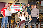 DOULE CELEBRATION: Emma Coakley and Carrie Griffin, Gallow's Fields, Tralee, Emma who return from Australia and Carrie who is off to Canada celebrating with family and friends at the Greyhound bar, Tralee on Thursday seated l-r: Emma Coakley, Carrie Griffin and  Lisa Keane. Back l-r: Liam Griffin, Selena Griffin, Stephaine Griffin, Philip Griffin, Sue Griffin and Fiona Kelter.