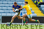 Brendan O'Sullivan Kerry in action against Adam Lynch Meath in the All Ireland Junior Football Final at O'Moore Park, Portlaoise on Saturday.