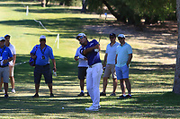 Yi-keun Chang (KOR) in action on the 1st during Round 2 Matchplay of the ISPS Handa World Super 6 Perth at Lake Karrinyup Country Club on the Sunday 11th February 2018.<br /> Picture:  Thos Caffrey / www.golffile.ie<br /> <br /> All photo usage must carry mandatory copyright credit (&copy; Golffile | Thos Caffrey)