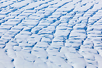 Crevasses on the suface of Miles Glacier, Chugach Mountains, southcentral, Alaska.