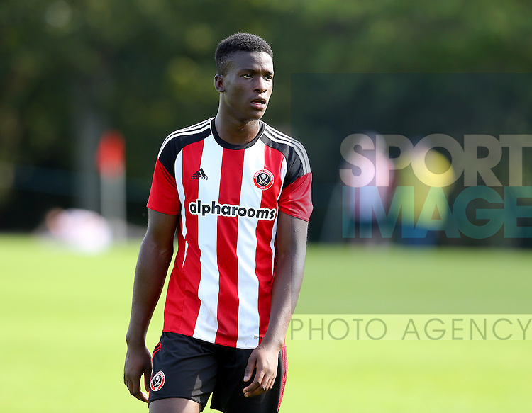 Joseph Cummings of Sheffield Utd during the Professional Development League Two match at Shirebrook Training Complex, Sheffield. Picture date: September 13th, 2016. Pic Simon Bellis/Sportimage