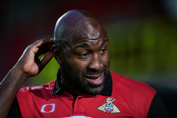 Doncaster Rovers manager Darren Moore<br /> <br /> Photographer Chris Vaughan/CameraSport<br /> <br /> EFL Leasing.com Trophy - Northern Section - Group H - Doncaster Rovers v Lincoln City - Tuesday 3rd September 2019 - Keepmoat Stadium - Doncaster<br />  <br /> World Copyright © 2018 CameraSport. All rights reserved. 43 Linden Ave. Countesthorpe. Leicester. England. LE8 5PG - Tel: +44 (0) 116 277 4147 - admin@camerasport.com - www.camerasport.com