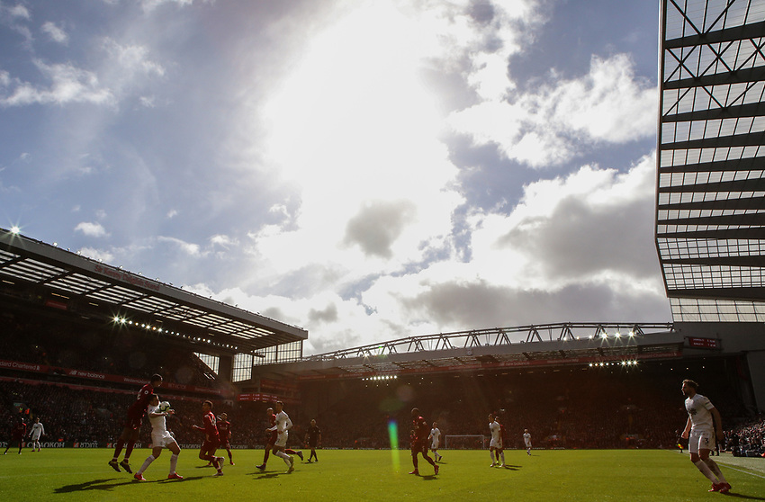 Play continues in the first half<br /> <br /> Photographer Alex Dodd/CameraSport<br /> <br /> The Premier League - Liverpool v Burnley - Sunday 10th March 2019 - Anfield - Liverpool<br /> <br /> World Copyright © 2019 CameraSport. All rights reserved. 43 Linden Ave. Countesthorpe. Leicester. England. LE8 5PG - Tel: +44 (0) 116 277 4147 - admin@camerasport.com - www.camerasport.com