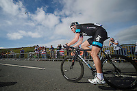 Ian Stannard (GBR) up Haytor<br /> <br /> 2013 Tour of Britain<br /> stage 6: Sidmouth to Haytor (Dartmorr): 137km