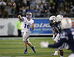 Air Force quarterback Karson Roberts passes against Nevada during the second half of an NCAA football game in Reno, Nev., on Saturday, Sept. 28, 2013. <br /> Photo by Cathleen Allison