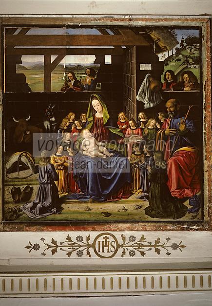 Europe/France/Auvergne/63/Puy-de-Dôme/Aigueperse: L'église Notre-Dame - Tableau de la nativité par Benetto Ghirlandajo