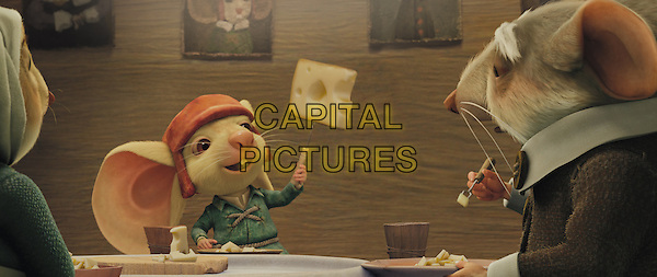 Mother Antoinette (voiced by FRANCES CONROY), noble mouse Despereaux (voiced by MATTHEW BRODERICK) and father Lester (voiced by WILLIAM H. MACY).in The Tale of Despereaux.*Filmstill - Editorial Use Only*.CAP/FB.Supplied by Capital Pictures.