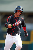 Rochester Red Wings outfielder Danny Ortiz (11) running the bases during a game against the Norfolk Tides on May 3, 2015 at Frontier Field in Rochester, New York.  Rochester defeated Norfolk 7-3.  (Mike Janes/Four Seam Images)