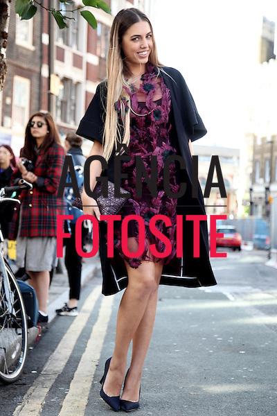 Londres, Inglaterra &sbquo;18/09/2013 - Moda de rua a Semana de moda de Londres  -  Verao 2014. <br /> Foto: FOTOSITE