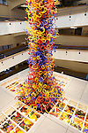 Fireworks of Glass, a sculpture of over 3,200 pieces of blown glass by artist Dale Chihuly at the Children's Museum, Indianapolis, Indiana, USA