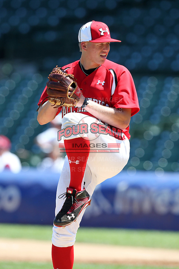 Pitcher Bryan Brickhouse (20) during the 2010 Under Armour All-American Game powered by Baseball Factory at Wrigley Field in Chicago, New York;  August 14, 2010.  Photo By Mike Janes/Four Seam Images