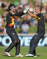 130118 HRV Cup Cricket Semifinal - Wellington Firebirds v Auckland Aces