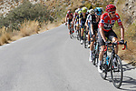Race leader Chris Froome Team Sky climbs during Stage 15 of the 2017 La Vuelta, running 129.4km from Alcal&aacute; la Real to Sierra Nevada. Alto Hoya de la Mora. Monachil, Spain. 3rd September 2017.<br /> Picture: Unipublic/&copy;photogomezsport | Cyclefile<br /> <br /> <br /> All photos usage must carry mandatory copyright credit (&copy; Cyclefile | Unipublic/&copy;photogomezsport)