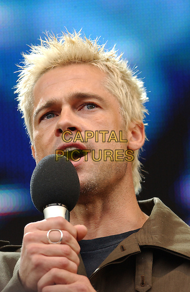 BRAD PITT.At Live 8 London - A concert to raise awareness for an end to extreme poverty in Africa (Make Poverty History) ahead of the G8 Summit taking place later this week. .Hyde Park, London, 2 July 2005..portrait headshot gig live8 aid makepovertyhistory.Ref: PL.www.capitalpictures.com.sales@capitalpictures.com.©Phil Loftus/Capital Pictures.