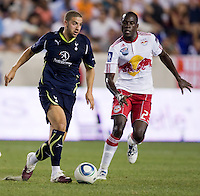 Adel Taarabt, Tony Tchani. Tottenham defeated the New York Red Bulls, 2-1.